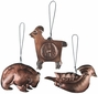 Aged Tin Woodland Animal Ornaments Per Doz