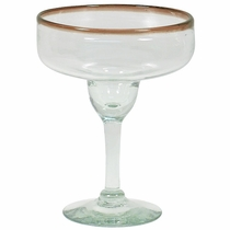 Amber Rimmed Margarita Glasses - Set of 4