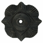 Antique Bronze Clover Rosettes with Bronze Nailheads - 1 Pair