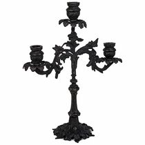 Antiqued Bronze Spanish Colonial Candelabra