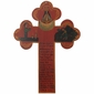 Antiqued Folk Art Cross with Story
