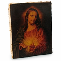 """Antiqued Mexican Retablo Devotional Painting Print on Canvas - Assorted - 7.5"""" x 9.5"""""""