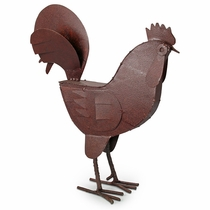 Articulated Metal Rooster Sculpture