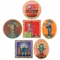 Assorted Day of the Dead Tin Retablo Ornaments - Set of Two