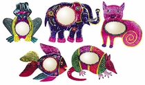 Assorted Painted Tin Animal Mirrors - 1 Mirror