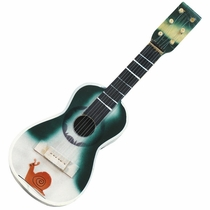 Assorted Painted Wood Guitars - Set of 2