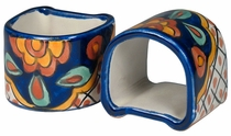 Assorted Talavera Napkin Rings - Set of 4