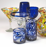 Authentic Mexican Handblown Glassware - Bubble Glass