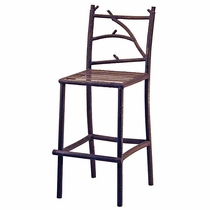 Bark Textured Iron Bar Stools - Set of 2