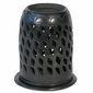 Black Clay Cylinder Luminaria with Base