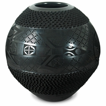 Black Clay Mata Ortiz Mimbres Lizard Pot