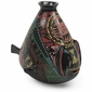 Black Mata Ortiz Pottery Fish Vase