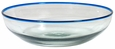 Blue Rimmed Hand Blown Glass Bowl