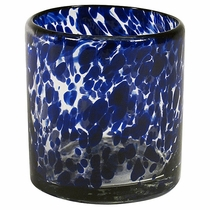 Blue Spotted Rocks Glass - Set of 4