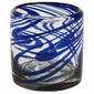 Blue Swirl Rocks Glass - Set of 4