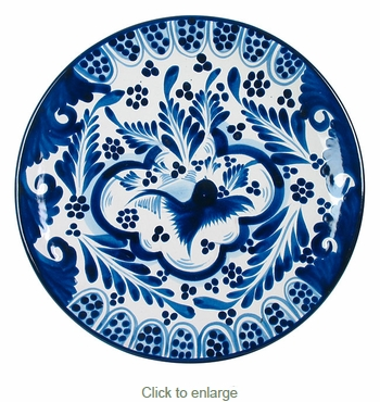 Blue u0026 White Talavera Dinner Plate  sc 1 st  Direct From Mexico : blue and white dinner plates - Pezcame.Com