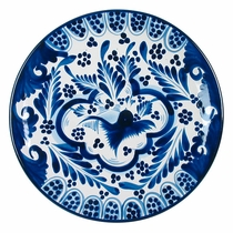 Hand Painted Blue & White Talavera Dinner Plate