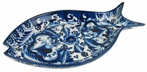 Blue & White Talavera Fish Platter