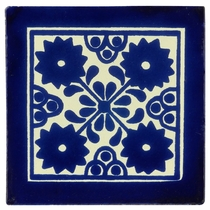 Blue & White Talavera Tile - PP2020 - 15 Tiles