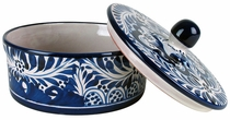 Blue & White Talavera Tortilla Warmer with Lid