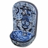 Blue & White Talavera Wall Fountain with Frog