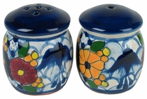 Bougainvillea Swallow Talavera Salt and Pepper Shakers