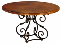 Broken -S- Dining Table Base Copper Top
