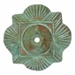 Bronze Clover Rosettes with Bronze Nailheads - Pack of 2