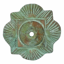 Mexican Bronze Clover Rosettes with Bronze Nailheads - Pack of 2