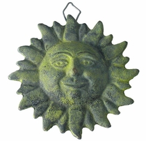 "Bronze Patina Mexican Sunface Wall Decoration 4"" Dia."