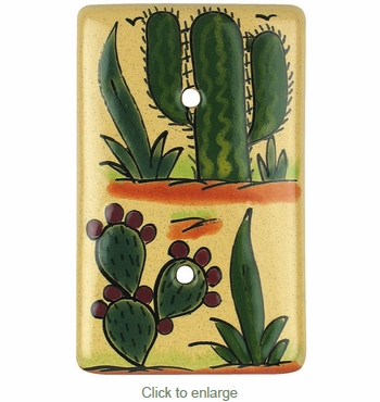 Cactus Blank Plate - Talavera Switchplates