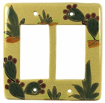 Cactus Talavera Double Rocker Switch Cover