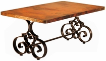 Carta Dining Table with Copper Top