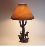 Carved Ironwood Table Lamps