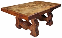 Carved Leg Mexicana Dining Table - Mesquite