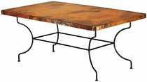 Catalina Rectangular Dining Table with Copper Top