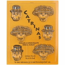 Catrinas Chocolate Skull Molds - Set of 2