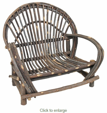 Child Size Rustic Twig Loveseat - With Bark