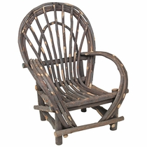 Child Size Twig Armchair - With Bark