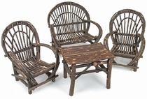 Child Size Twig Furniture 4-Piece Patio Set