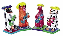 Clay Animal Mariachis Assorted