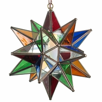 Clear Colored Glass Star Fixture