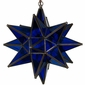 Cobalt Blue Glass Star Light