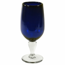 Cobalt Blue Long Stemmed Water Goblet - Set of 4