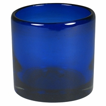 Cobalt Blue Rocks Glass - Set of 4