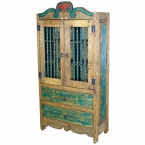 Colonial Armoire with Turned Spindle Doors