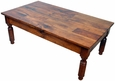 Colonial mesquite sofa table - Table basse style colonial ...