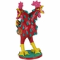 Colorful Two-Headed Screaming Chicken Statue - Mexican Folk Art