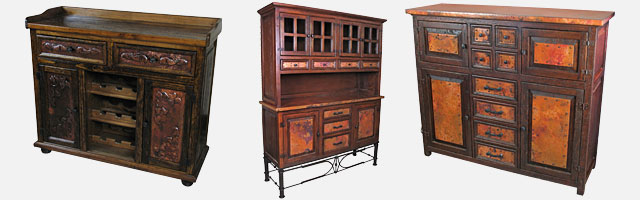Amazing Copper And Old Wood Buffets U0026 Hutches