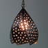 Copper Punched & Twisted Hanging Light